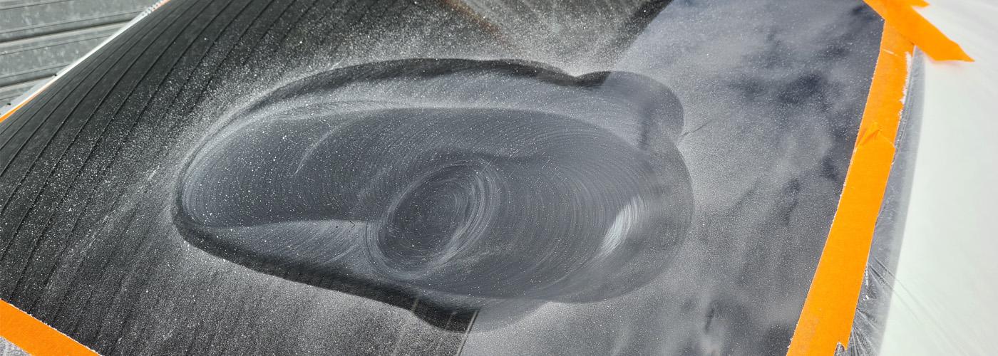 removing scratch in rear glass mercedes