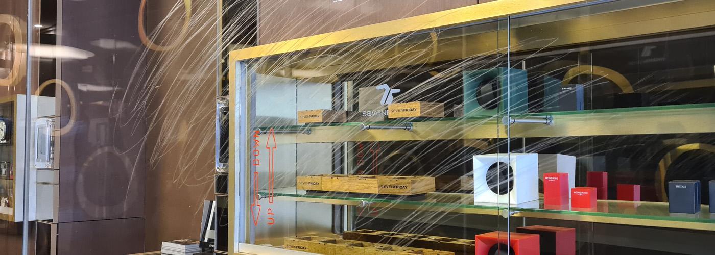 brisbane shopfront glass graffiti in glass