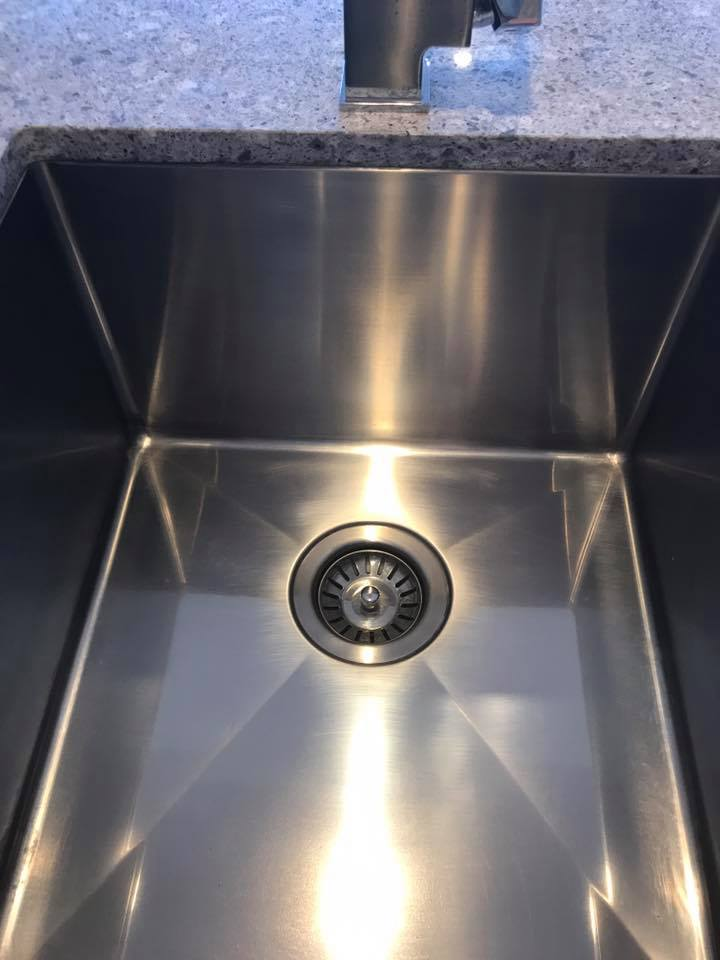 Polished scratches from Sink