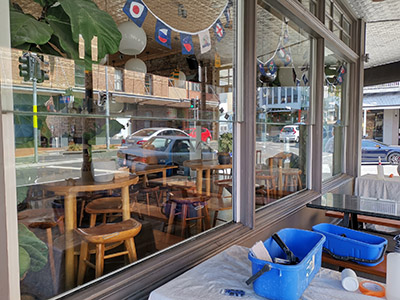 scratches in glass removed fortitude valley