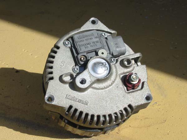 non-polished alternator