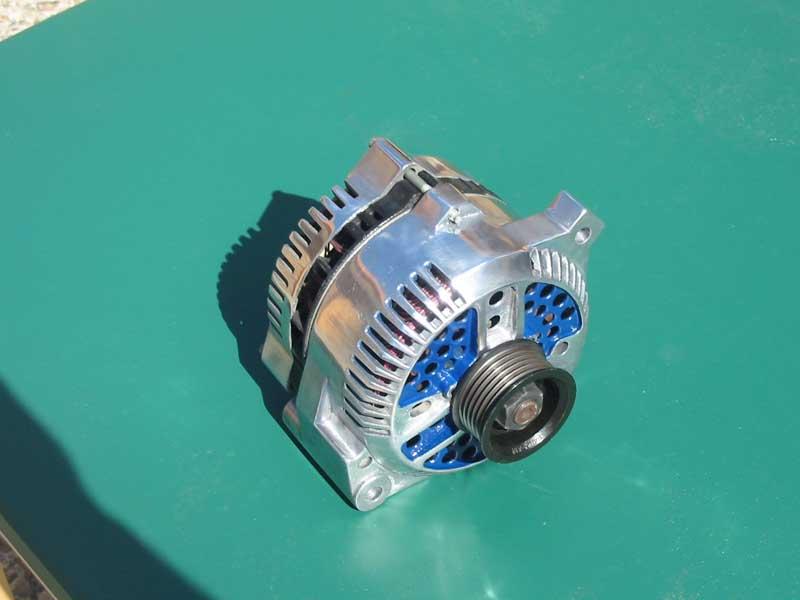 polished alternator
